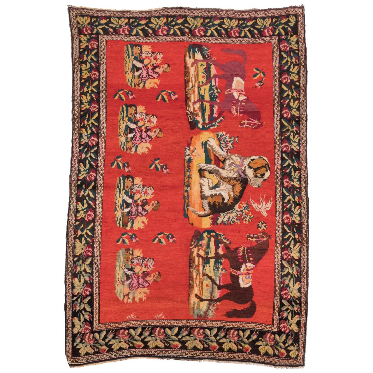 فرش دستباف قدیمی سه متری سی پرشیا کد 170003