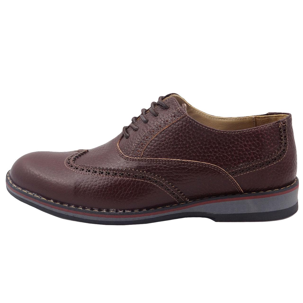 قیمت کفش چرمی مردانه طرح هشت ترک کد A15