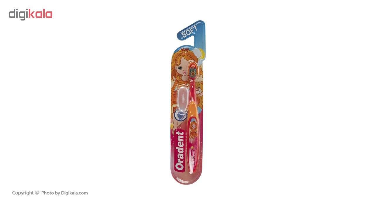 مسواک کودک اورادنت مدل B0149F با برس نرم  Oradent B0149F Soft Toothbrush For Kids
