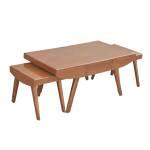 میز پذیرایی مدل قایقی کدA3 مجموعه 3 عددی thumb