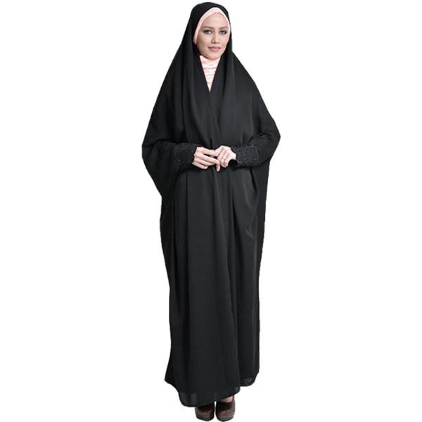 چادر دانشجویی مچ نگین دار ابریشم (کد 7002) حجاب آراسته