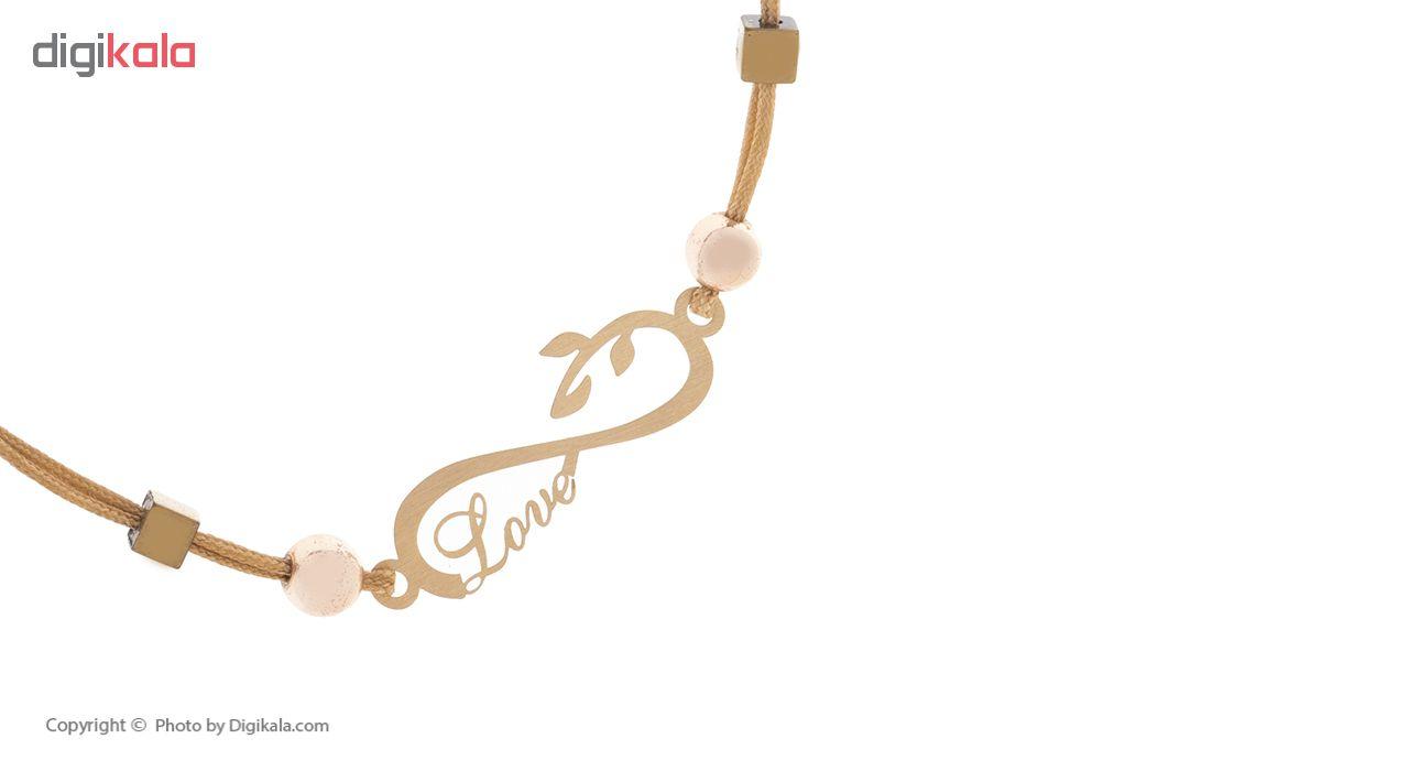 دستبند طلا 18 عیار آیینه رنگی مدل بارون کد AR-H012