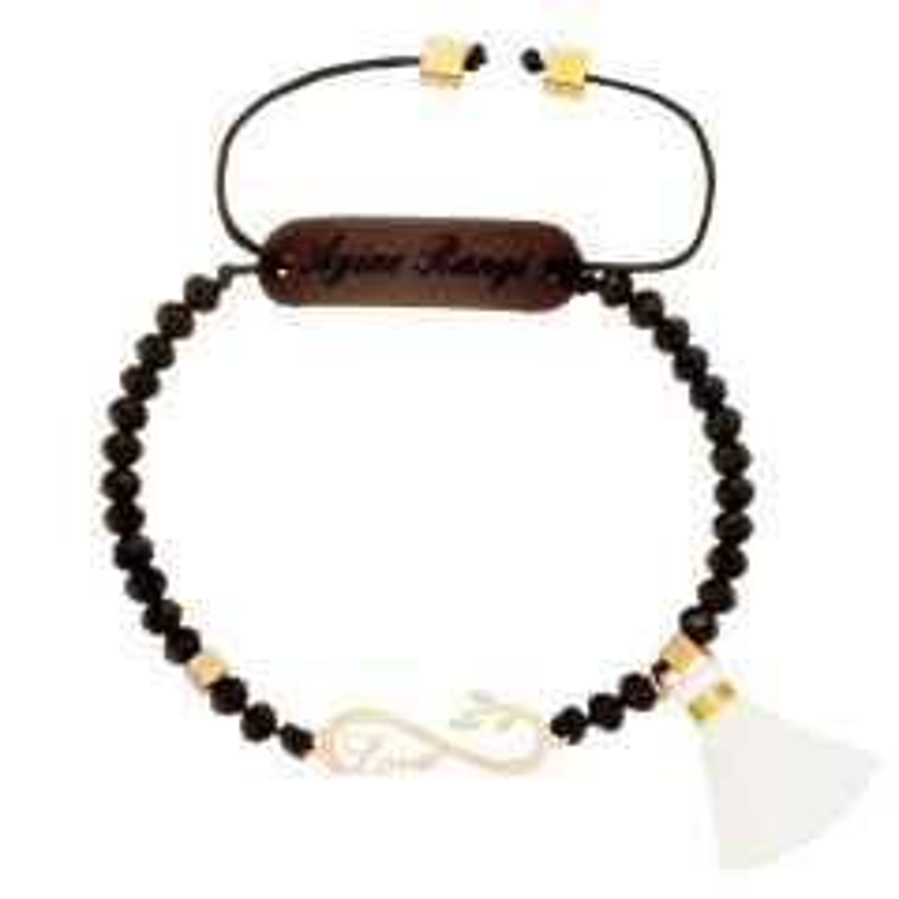 دستبند طلا 18 عیار آیینه رنگی مدل بارون کد AR-M012