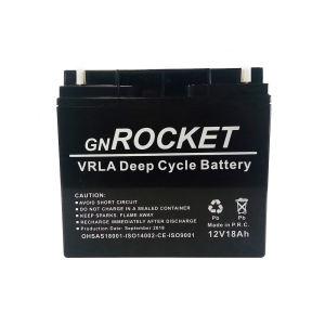 باتری راکت مدل دیپ سایکل ظرفیت 18 آمپر ساعت
