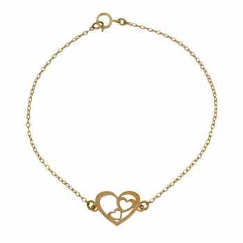 دستبند طلا 18 عیار زنانه کانیار گالری کد DZ311