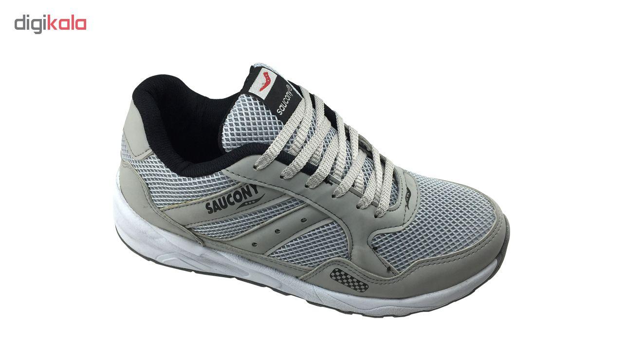 کفش مخصوص پیاده روی مردانه مدل B172 رنگ طوسی