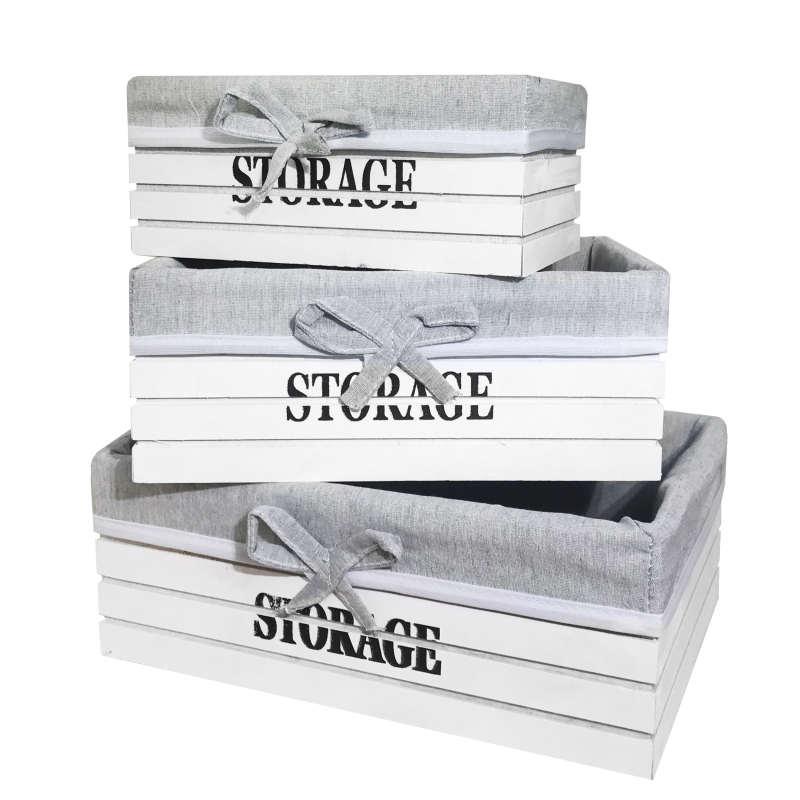 باکس چوبی مدل WH3-STORAGE  مجموعه سه عددی