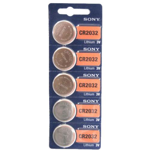 باتری سکه ای سونی مدل CR2032 بسته 5 عددی