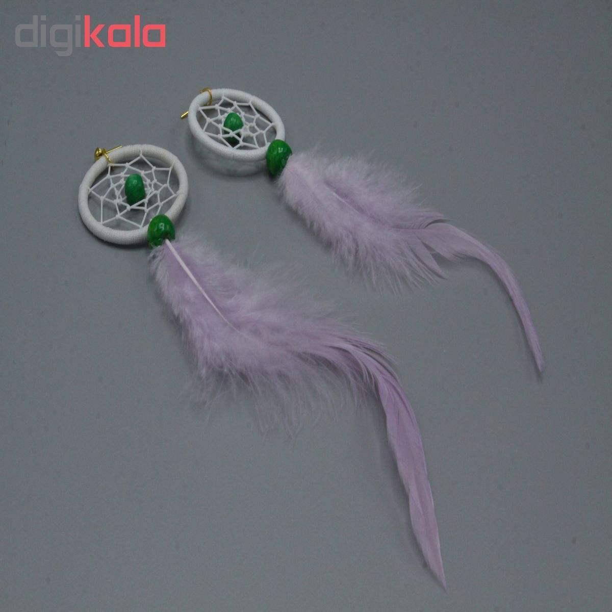 گوشواره زنانه طرح دریم کچر مدل SD 008 main 1 2