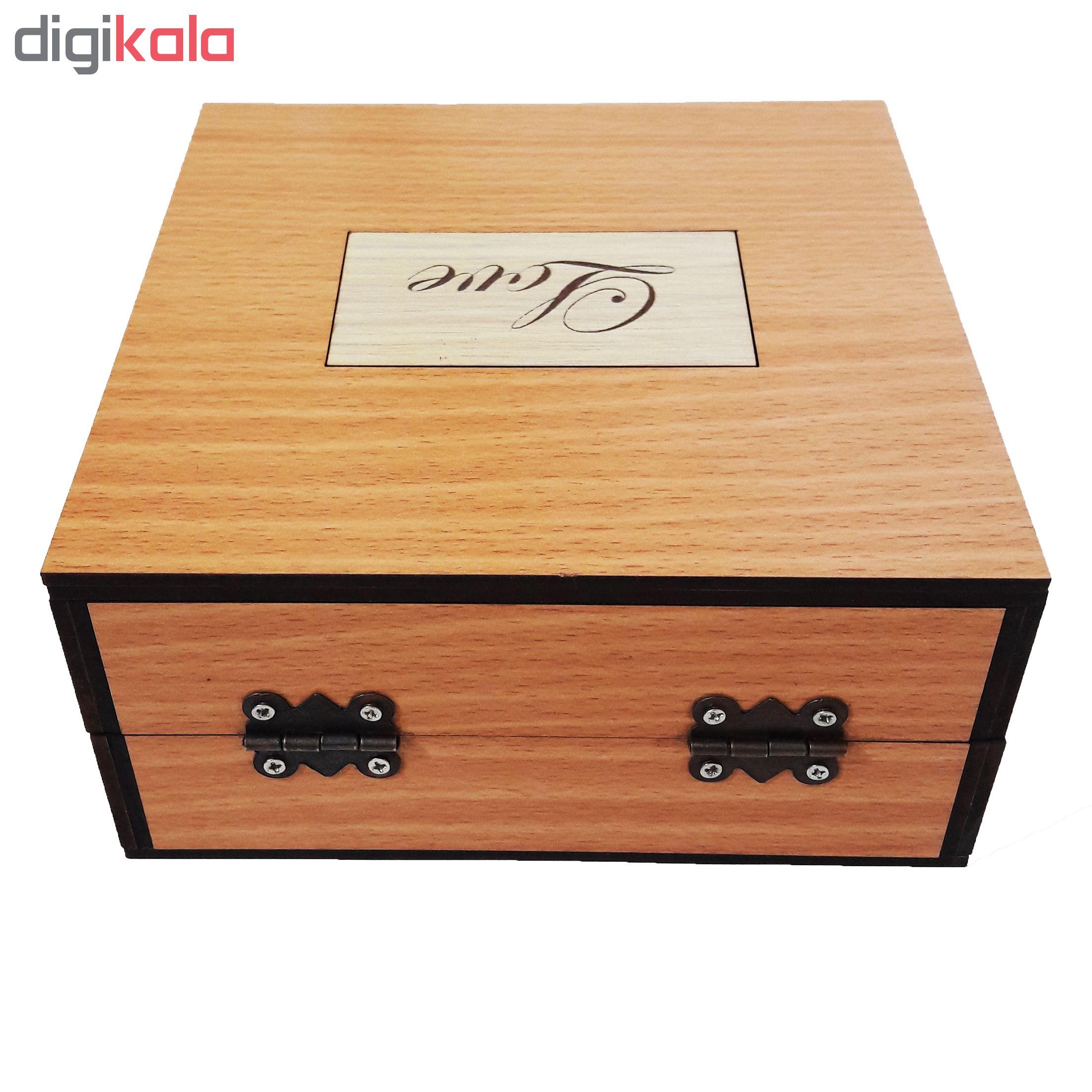 جعبه هدیه چوبی آیهان باکس مدل 101