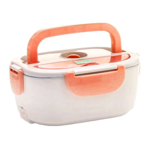 ظرف غذا برقی استیل لانچ باکس مدل HL-L300 رنگ نارنجی