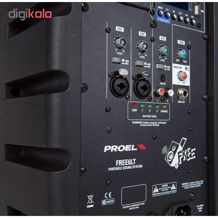 پخش کننده خانگی بلوتوثی قابل حمل پروئل مدل Free6LT به همراه میکروفن