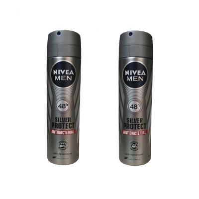 تصویر اسپری ضد تعریق مردانه نیوآ مدل Silver Protect حجم 150 میلی لیتر بسته 2 عددی