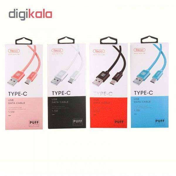 کابل تبدیل USB به USB-C رسی مدل RCT-U150 طول 1.5 متر main 1 2