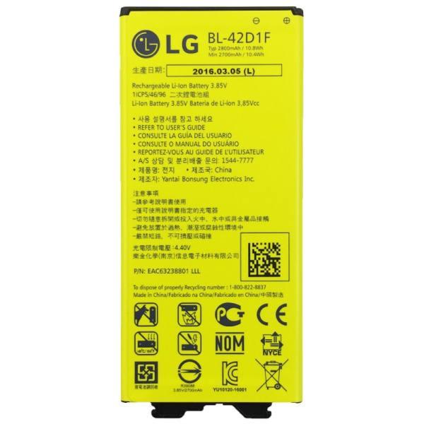 باتری موبایل مدل BL-42D1F با ظرفیت 2800mAh مناسب برای گوشی موبایل LG G5