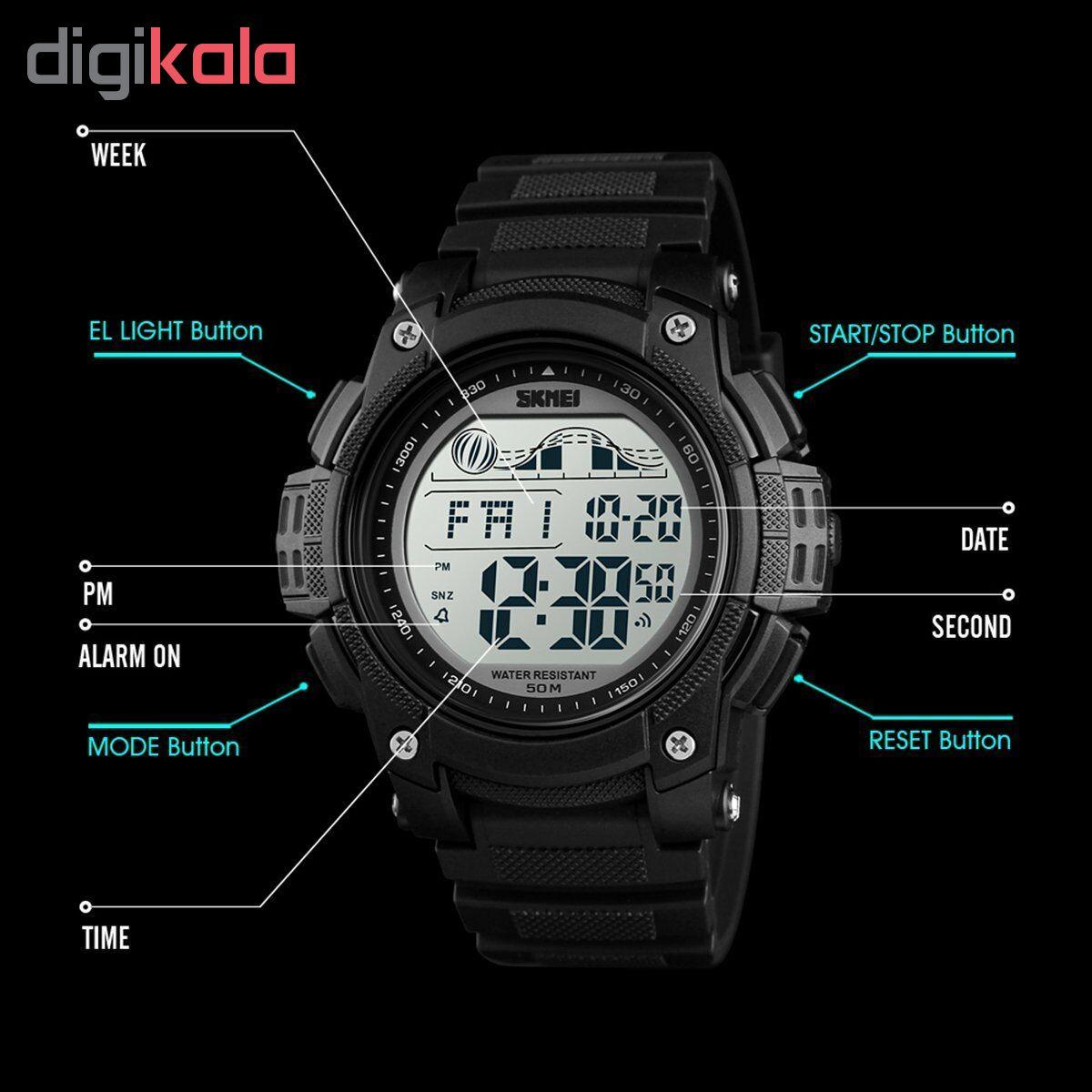 ساعت مچی دیجیتال مردانه اسکمی مدل 1372