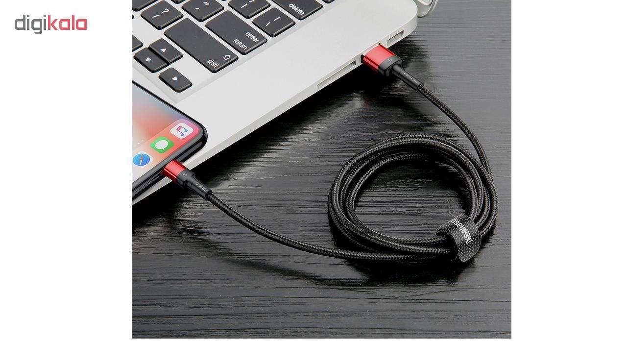 کابل تبدیل USB به لایتنینگ باسئوس مدلCALKLF-HG1 طول 2 متر main 1 5