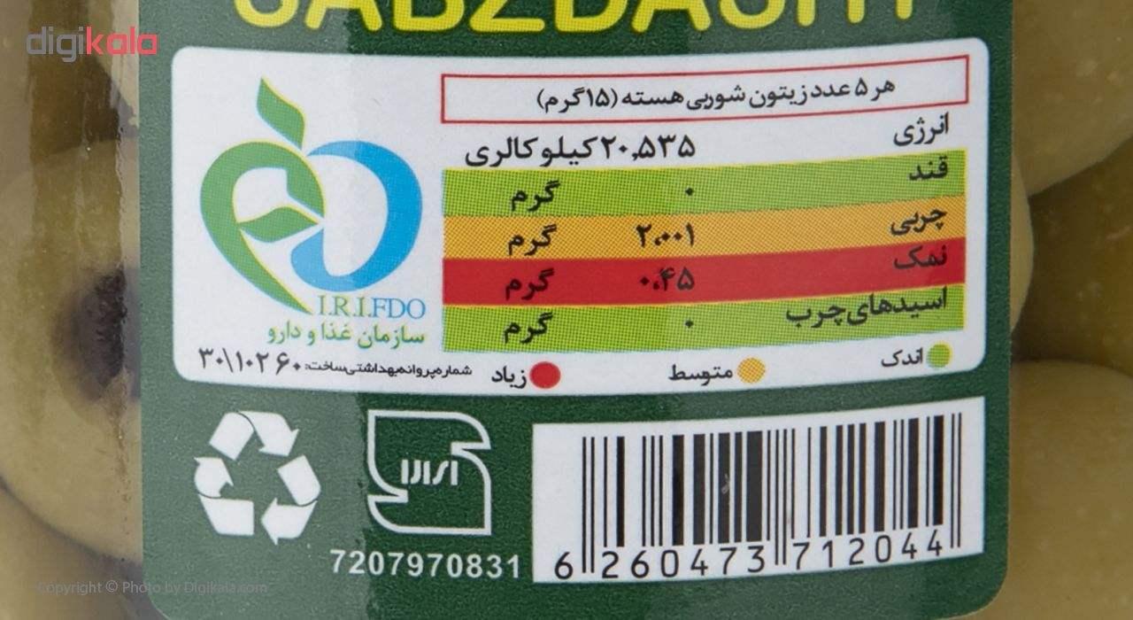 زیتون شور بی هسته سبز دشت  مقدار 490 گرم main 1 3