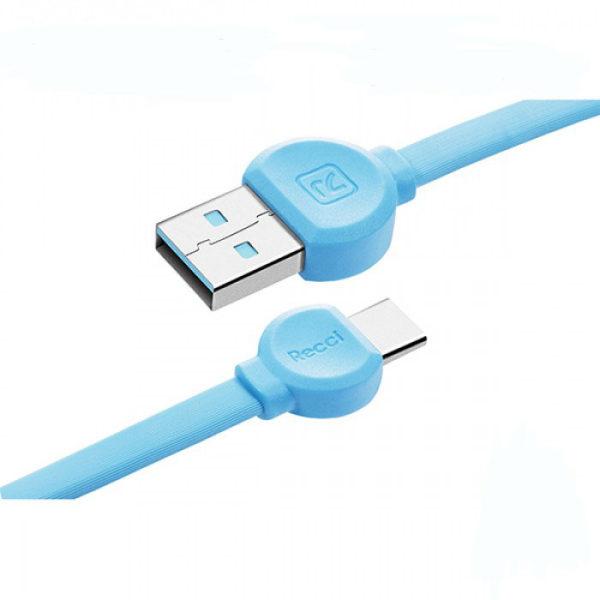کابل تبدیل USB به USB-C رسی مدل RCT-D100 طول 1 متر
