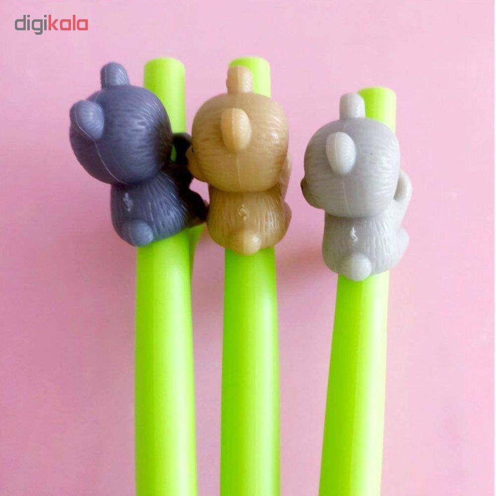 خرید لوازم تحریر فانتزی - روان نویس فانتزی با طرح خرس در بالا