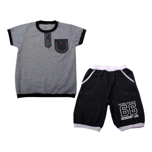 ست تی شرت و شلوارک پسرانه کد 1-380042