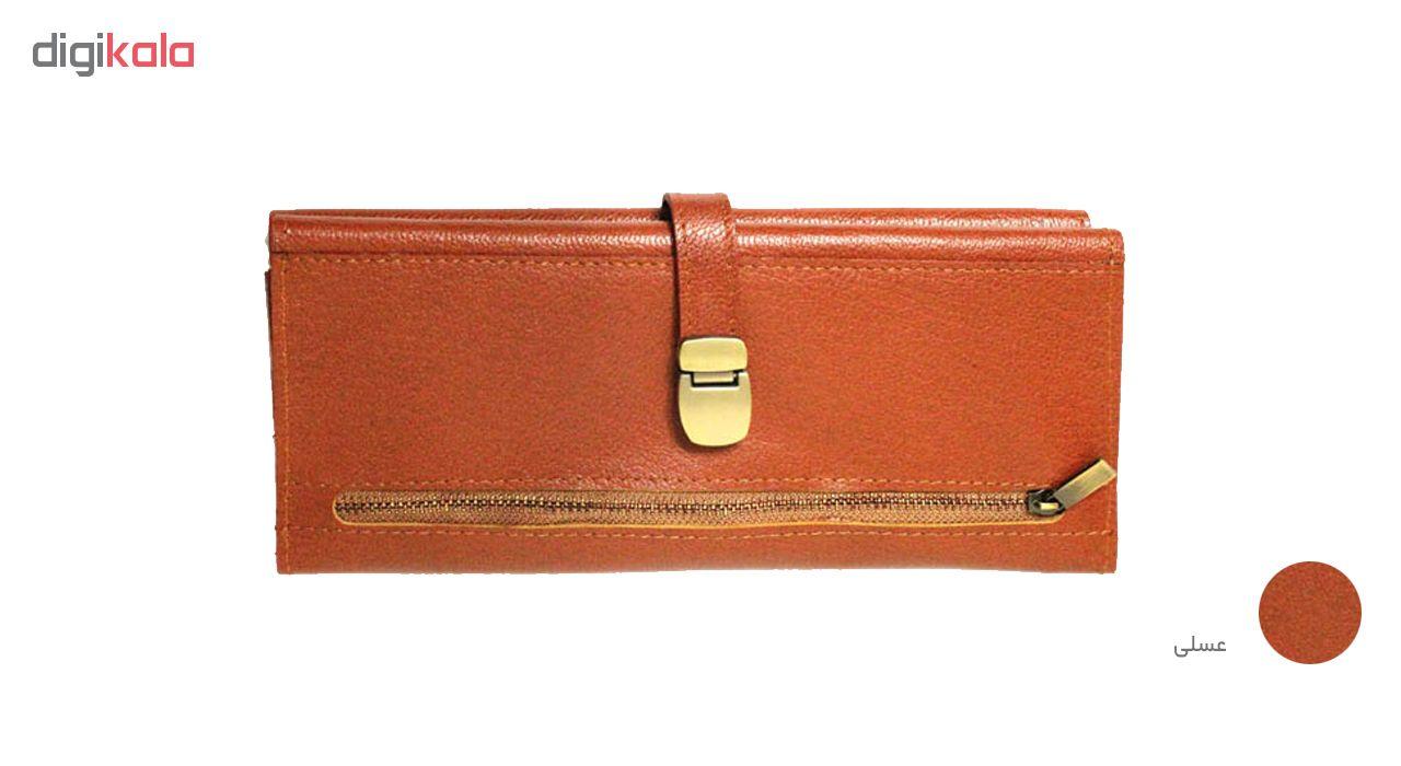 کیف پول چرم طبیعی چرم آرا مدل p015