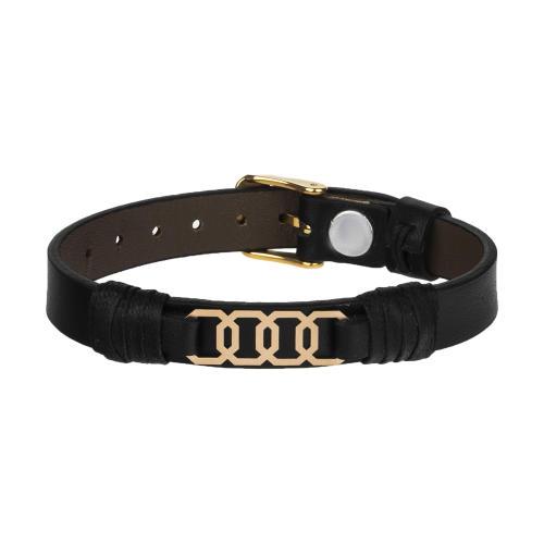 دستبند طلا 18 عیار مردانه مدیاگلد مدل MGL-D0249