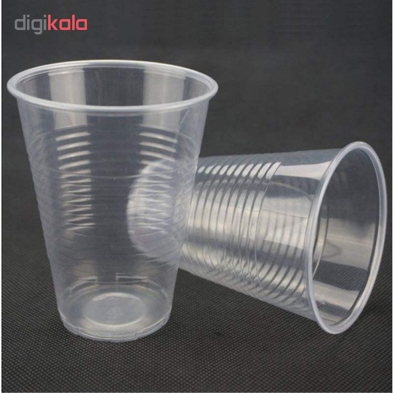 لیوان یکبار مصرف نیک پلاستیک تمیزی کد 0200 بسته 500 عددی thumb 1