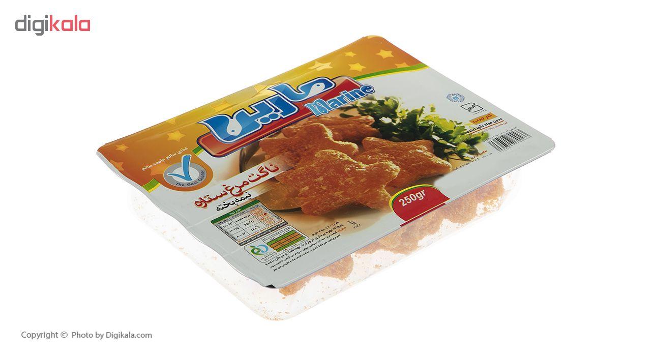 ناگت مرغ ستاره مارین وزن 250 گرم