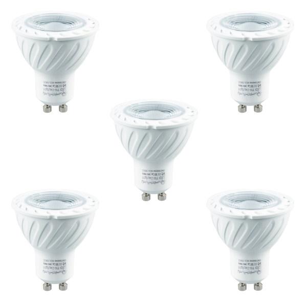 لامپ هالوژن ال ای دی 7 وات پارس شعاع توس مدل H7W پایه GU10 بسته 5 عددی