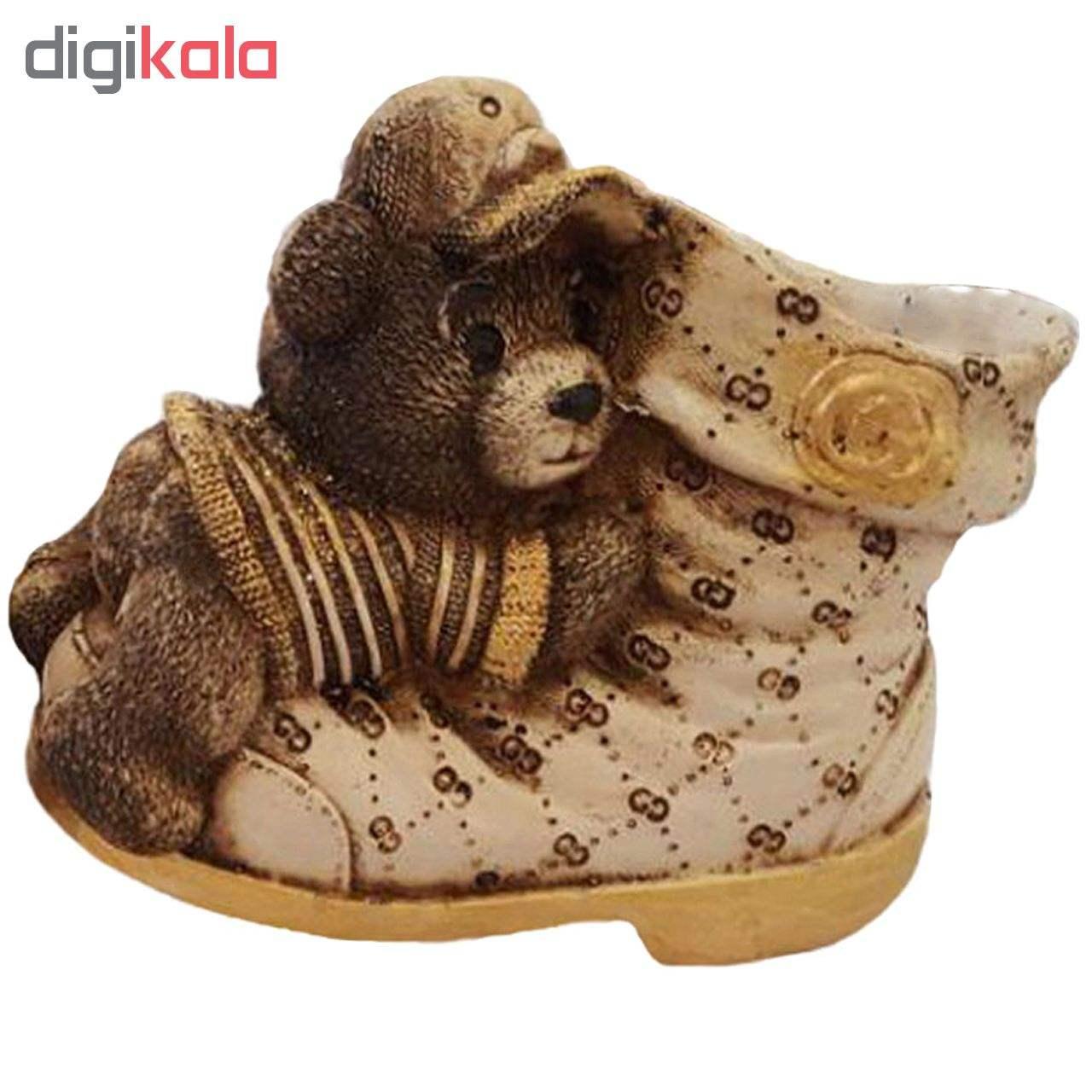جامدادی رومیزی لیلپار طرح کفش خرسی مدل DGA-2011