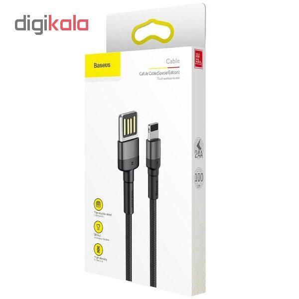 کابل تبدیل USB به لایتنینگ باسئوس مدل CALKLF-GG1 Cafule Special Edition طول 1 متر thumb 4
