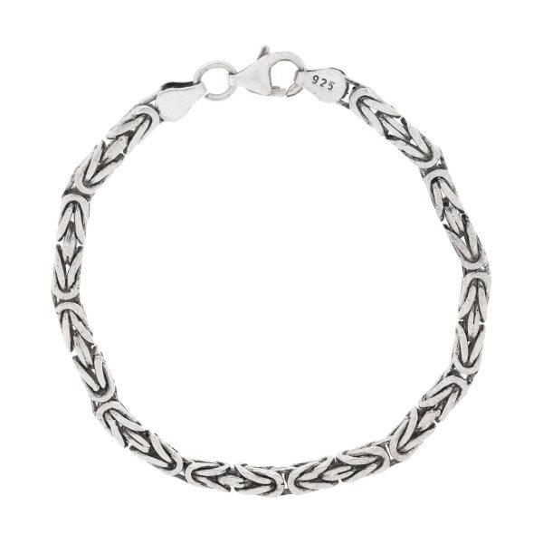 دستبند نقره مردانه اکنو مدل OK4259