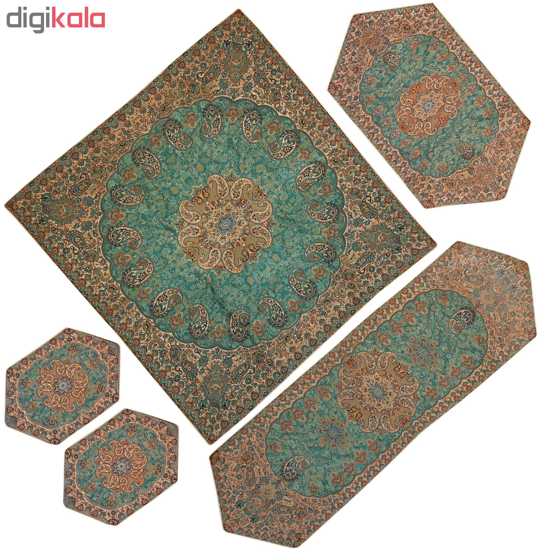 5 PCS Nastaran cashmere tablecloth, SABZABI25/5 Model