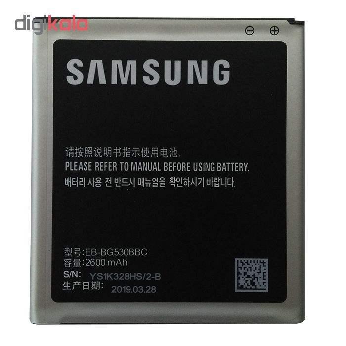 باتری موبایل  مدل EB-BG530BBC ظرفیت 2600 میلی آمپر ساعت مناسب برای گوشی موبایل سامسونگ J5 2015 /Grand Prime Plus/J3 main 1 1