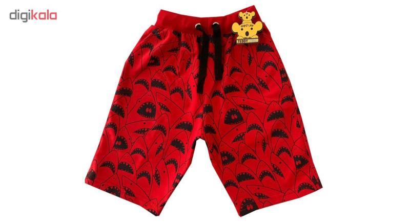 شلوارک پسرانه خرس کوچولو مدل Shark کد 01