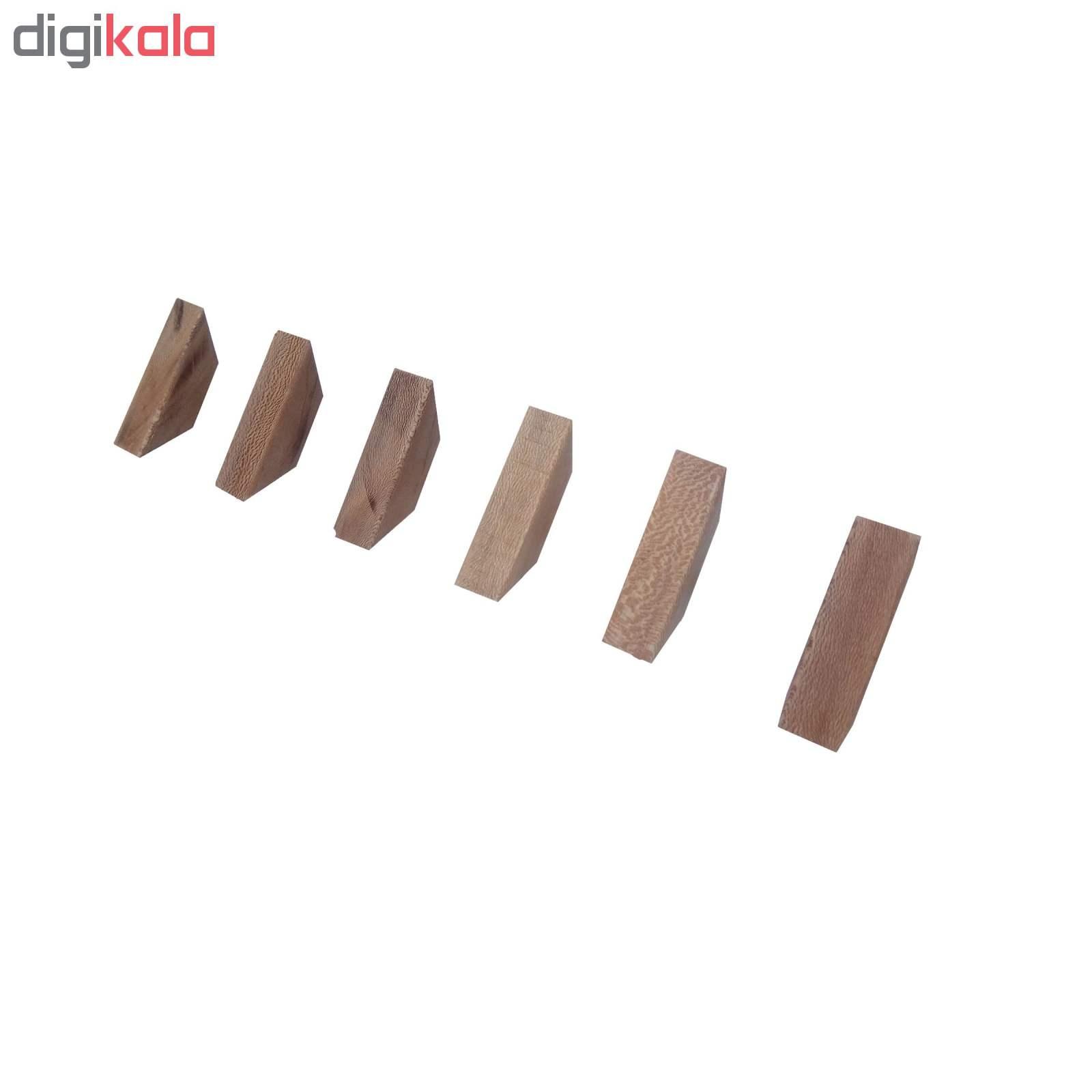 قلاب آویز لباس رخت اویز چوبی چوبیس کد ۷۰۲ بسته ۶ عددی main 1 4