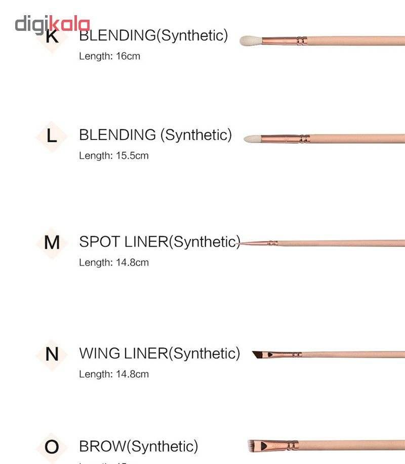 ست برس آرایشی مدل XT-Pro مجموعه 15 عددی main 1 5