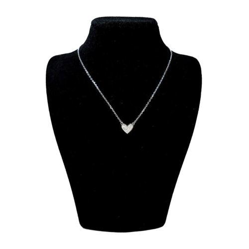 گردنبند نقره زنانه طرح قلب کد N87176