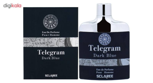 ادو پرفیوم مردانه اسکلاره مدل Telegram Dark Blue حجم 82 میلی لیتر  Sclaree Telegram Dark Blue Eau