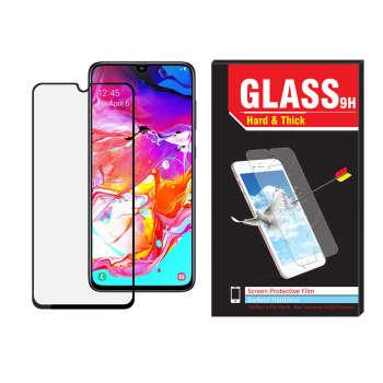 محافظ صفحه نمایش فول کاور hard and thick مدل ht-01 مناسب برای گوشی موبایل سامسونگ Galaxy A70
