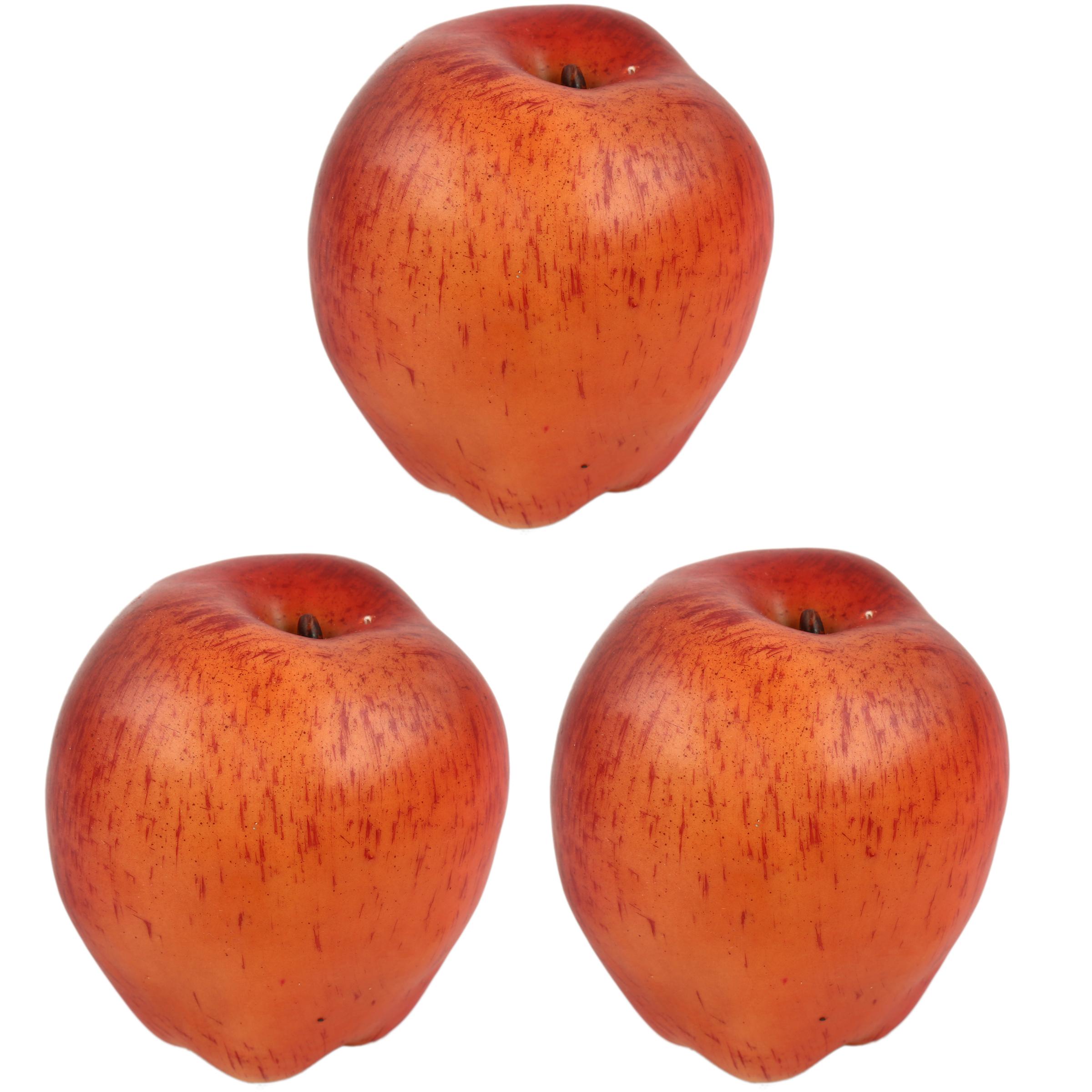 میوه تزئینی هومز طرح سیب کد 40112 بسته 3 عددی