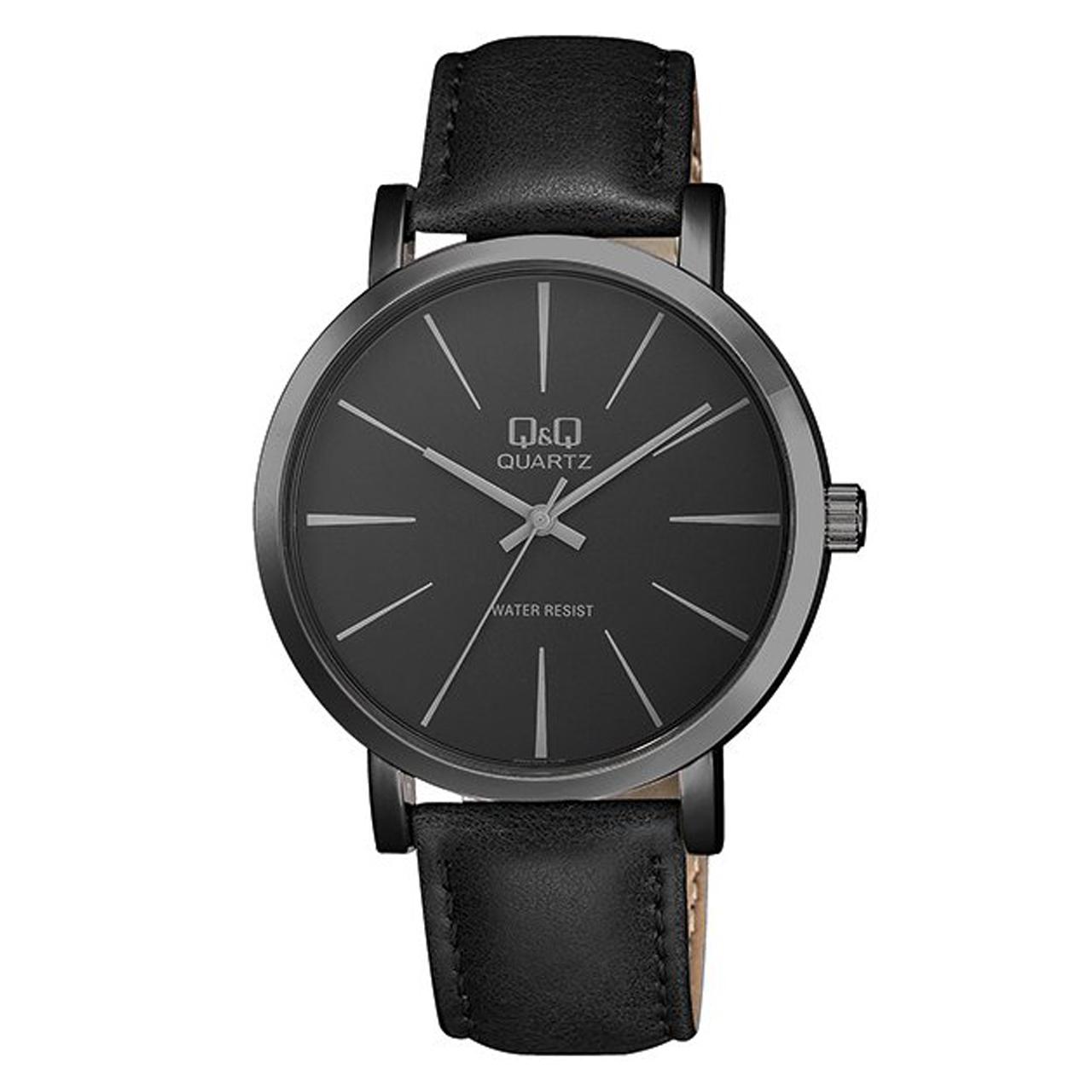 ساعت مچی عقربه ای مردانه کیو اند کیو مدل q892j532y  به همراه دستمال مخصوص برند کلین واچ 39