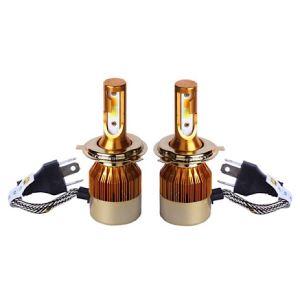 هدلایت لامپ خودرو D9 مدل H4 دورنگ بسته ۲ عددی