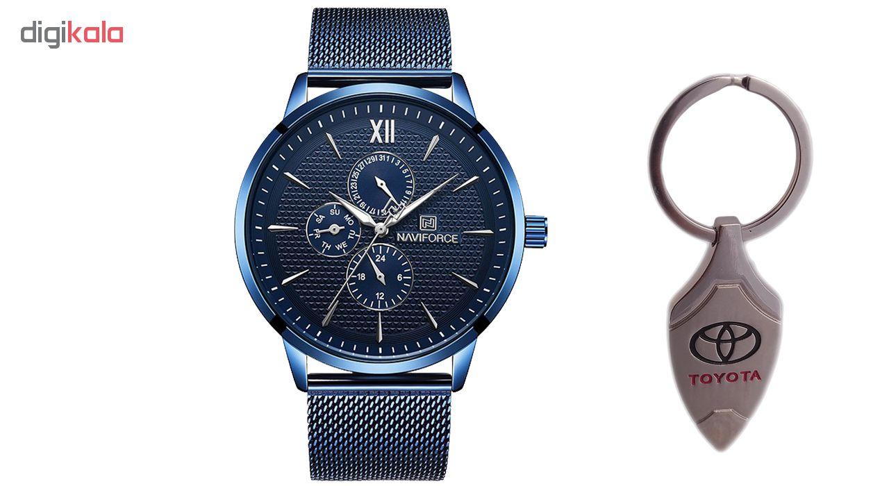 خرید ساعت مچی عقربه ای مردانه نیوی فورس مدل NF3003BEBE