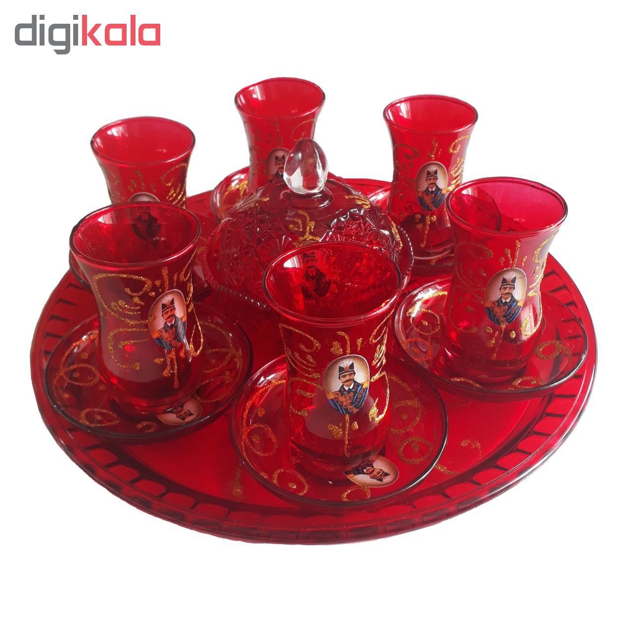 سرویس چای خوری 15 پارچه طرح شاه عباسی کد 1311