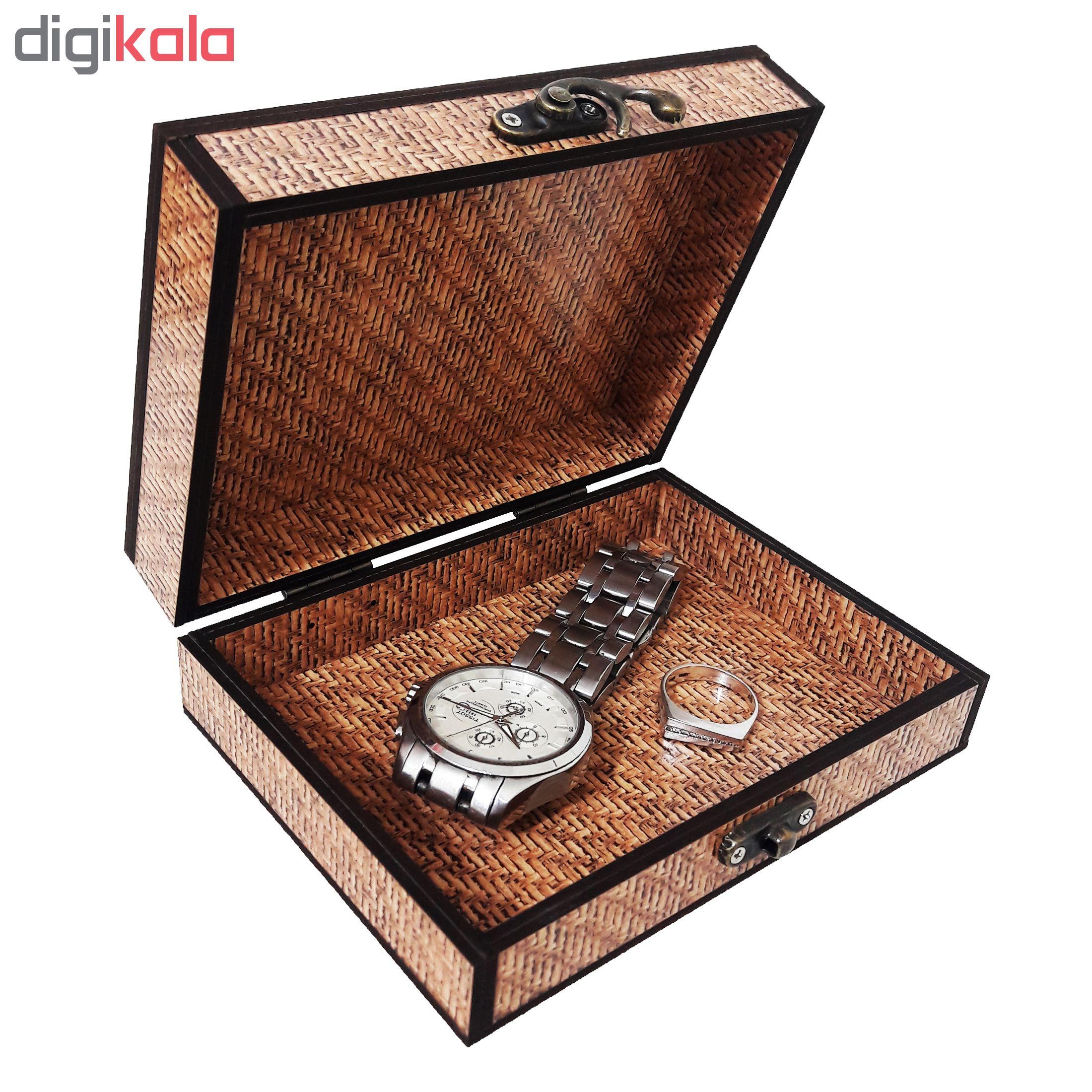 خرید                      جعبه هدیه چوبی کادو آیهان باکس مدل 118