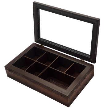 جعبه چای کیسه ای طرح چوب مدل wooden