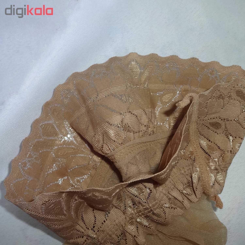 جوراب بلند زنانه مدل تور ژل دار کد cregl main 1 4