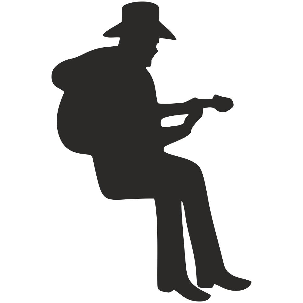 استیکر فراگراف کلید و پریز چاپ پارسیان طرح مرد گیتارزن بسته دو عددی